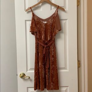 LC Lauren Conrad Runway Velvet Dress